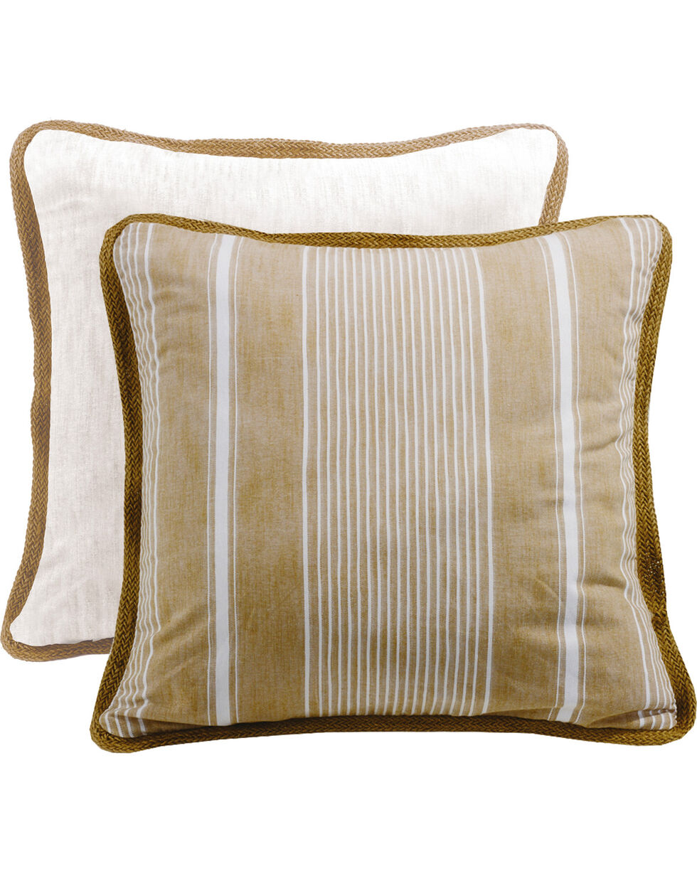 HiEnd Accents Reversible Striped Euro Sham, White, hi-res