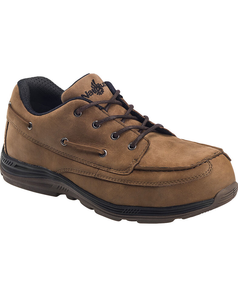 Nautilus Men's Brown EH Carbon Nanofiber Casual Work Shoes - Composite Toe , Brown, hi-res