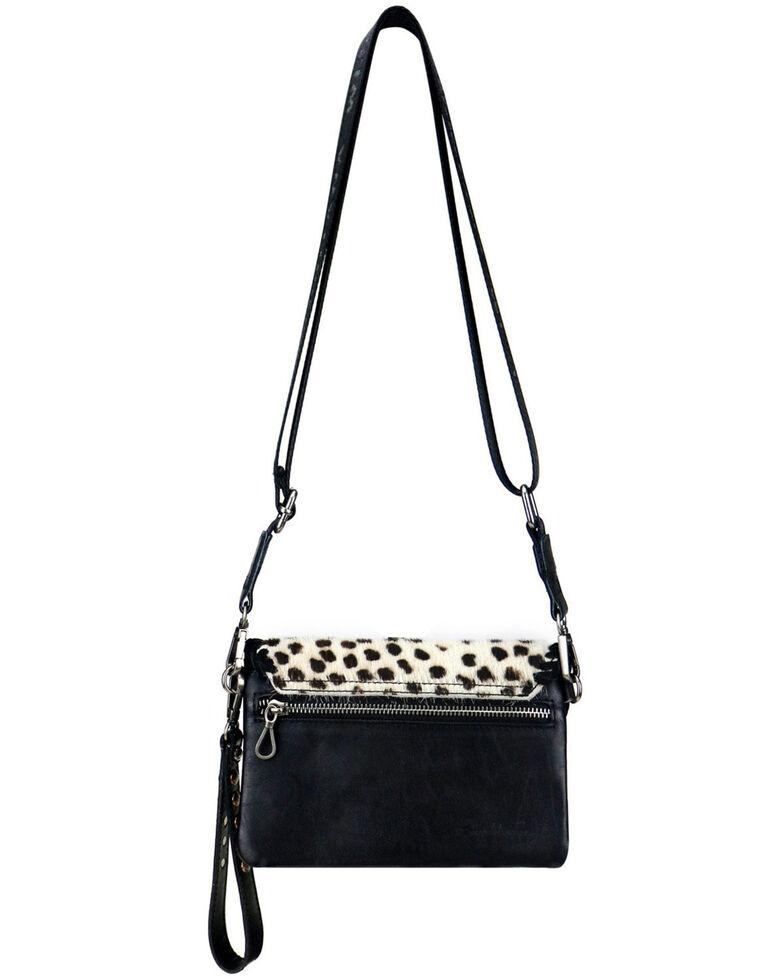 Montana West Women's Snow Leopard Crossbody Bag, Black, hi-res