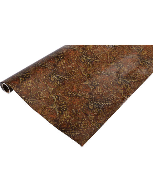BB Ranch® Tooled Leather Wrapping Paper, Brown, hi-res
