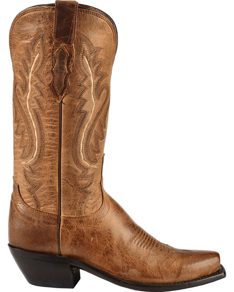 Lucchese Handmade 1883 Women's Cassidy Cowgirl Boots - Square Toe, Tan, hi-res