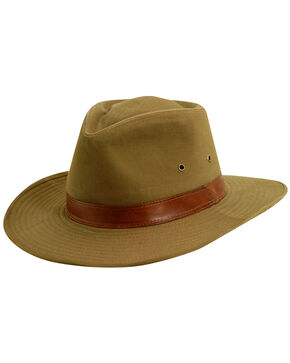 Scala Men's Bark Twill Outback Hat, Bark, hi-res
