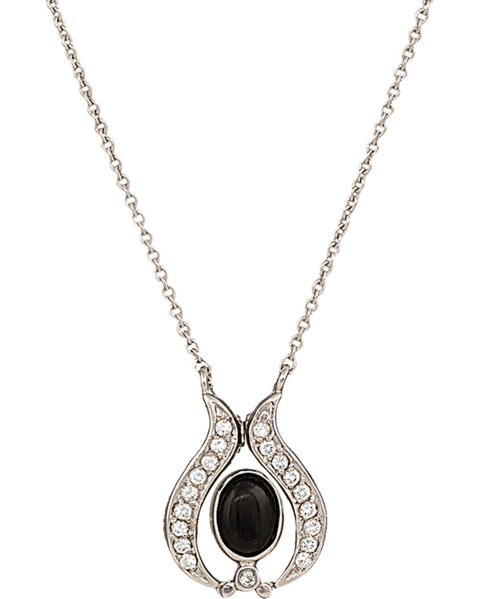 Montana Silversmiths Convertible Winged Onyx Necklace, Black, hi-res