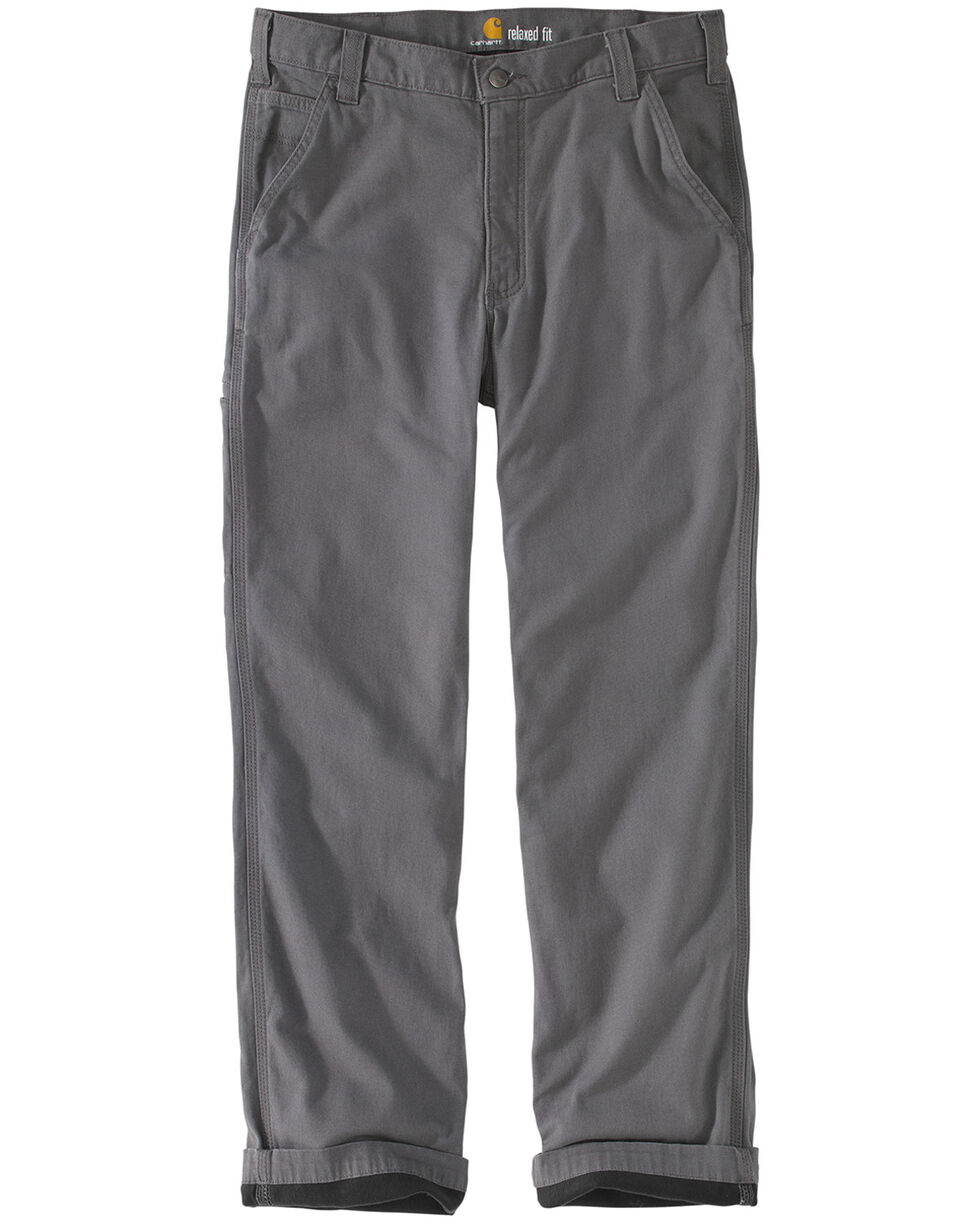 Carhartt Men's Rugged Flex Rigby Knit Lined Dungarees , Charcoal, hi-res