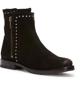 Frye Women's Black Natalie Stud Double Zip Booties - Round Toe , Black, hi-res