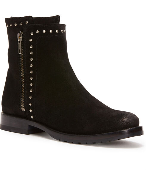 Frye Women's Black Natalie Stud Double Zip Boots - Round Toe , Black, hi-res