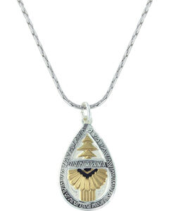 Montana Silversmiths Women's Southern Rays Of Light Necklace , Silver, hi-res