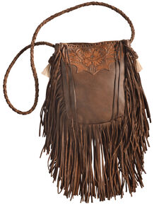 7bb1172d2afb Kobler Leather Tan Hand-Tooled Pouch Bag