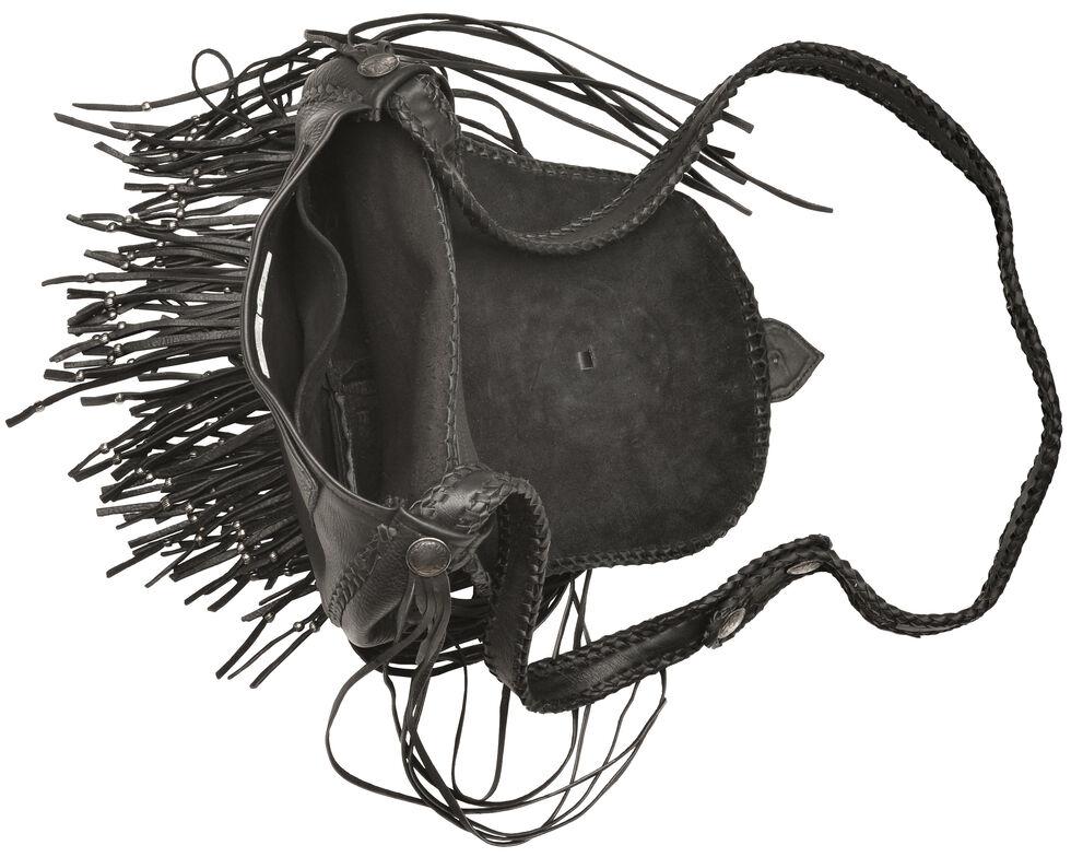 Kobler Leather Concho and Flutted Beads Bag, Black, hi-res