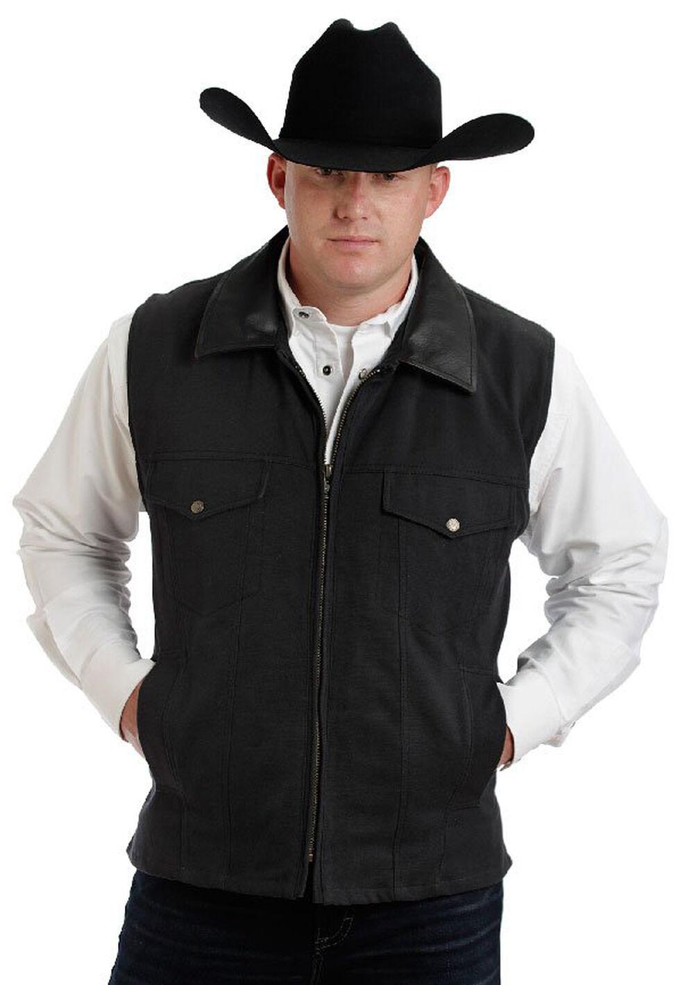 Colorado Saddlery Black Conceal Carry Vest, Black, hi-res