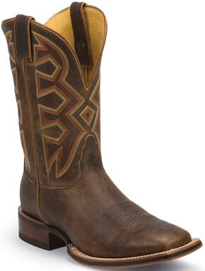 Nocona Tan Frida Let's Rodeo Cowboy Boots - Square Toe , Tan, hi-res