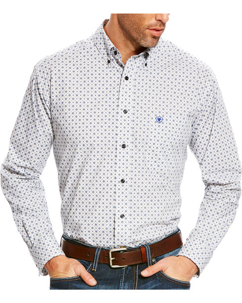 Ariat Men's Grey Burton Printed Western Shirt , Multi, hi-res