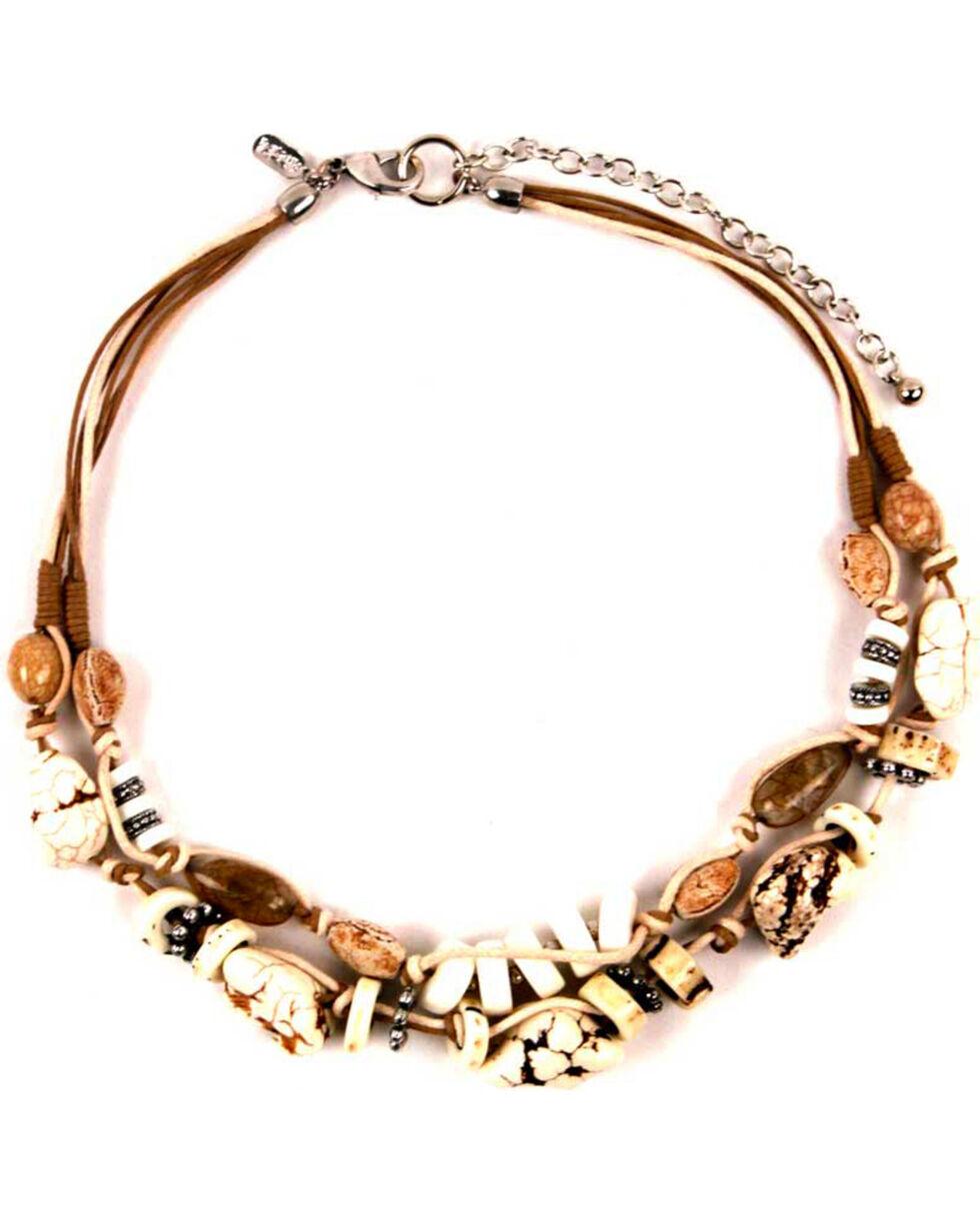 Treska Women's Short Two Row Beaded Necklace, White, hi-res