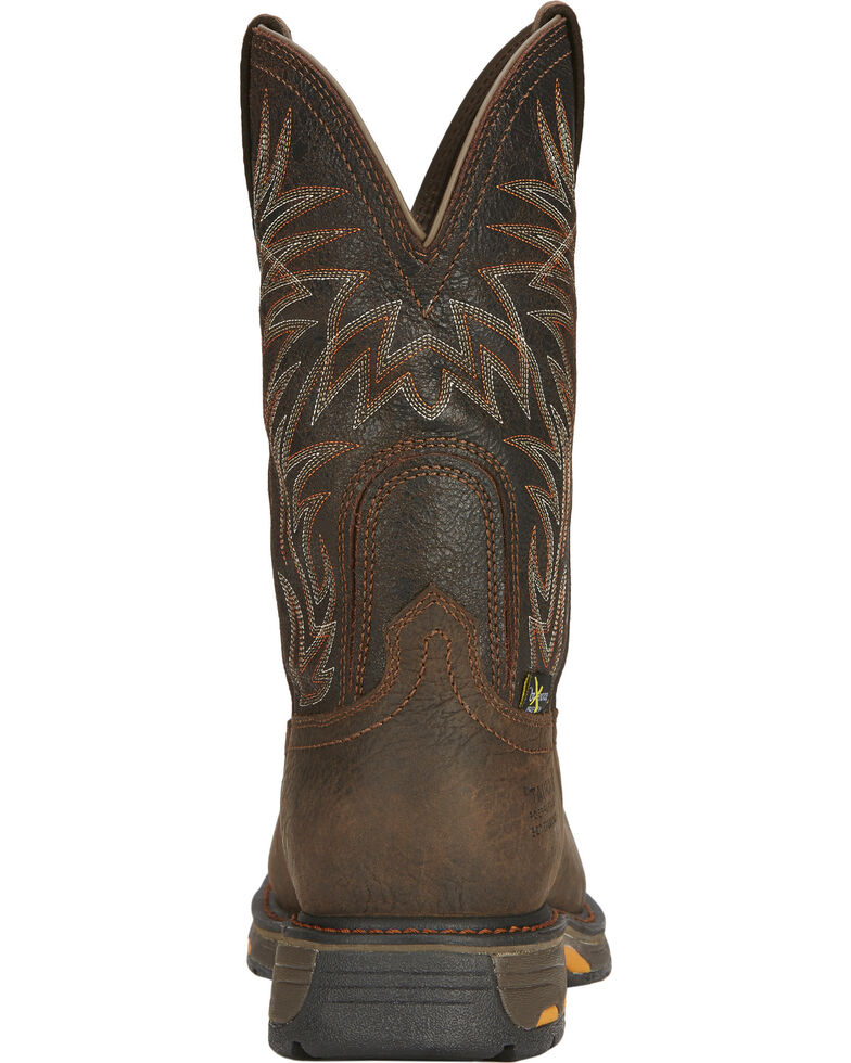 7e8586ee0a654 Zoomed Image Ariat Men's Workhog Waterproof Western Work Boots - Composite  Toe, Brown, hi-res