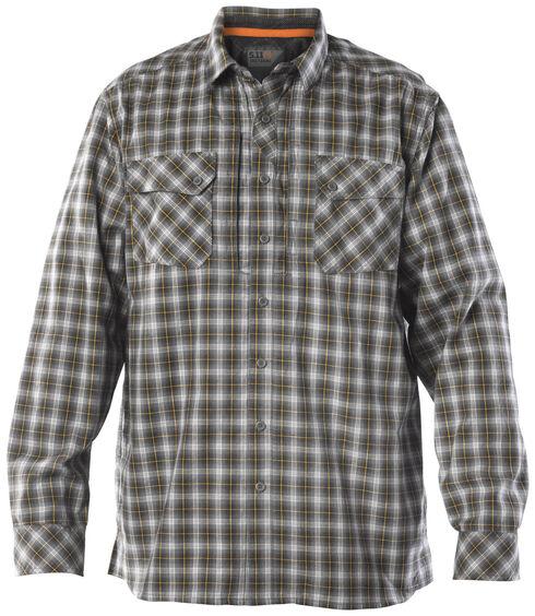 5.11 Tactical Men's Covert Flex Long Sleeve Shirt, Storm, hi-res