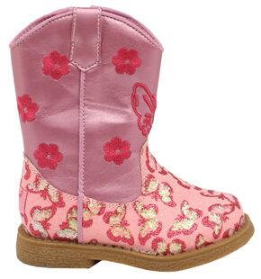 Blazin Roxx Toddler Girls' Lil' Pecos Boots - Round Toe, Pink, hi-res