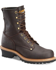 Carolina Men's Brown Logger Boots - Steel Toe, Brown, hi-res