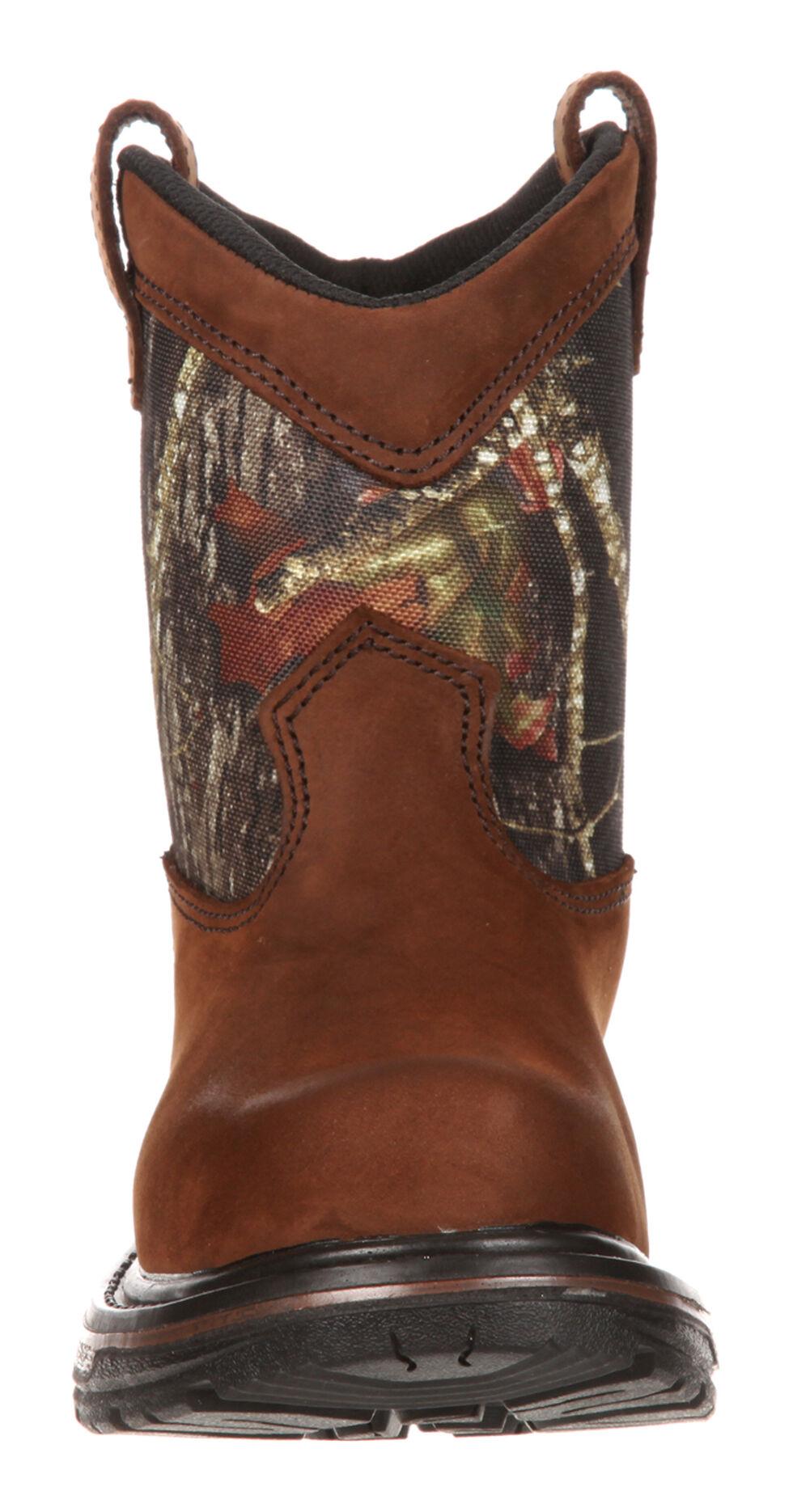 Rocky Boys' Ride Wellington Waterproof Boots, Brown, hi-res