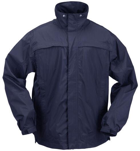 5.11 Tactical Men's TacDry Rain Shell, Navy, hi-res