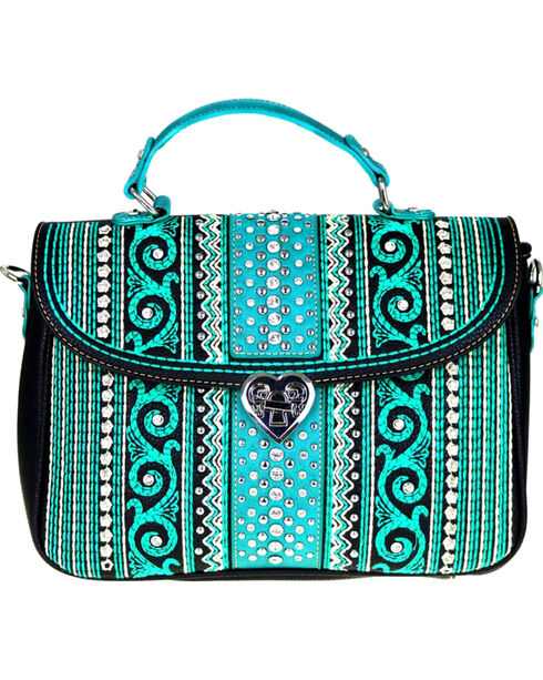 Montana West Women's Bling Bling Collection Satchel/Crossbody Bag, , hi-res