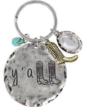 Shyanne® Women's Y'all Key Chain, Silver, hi-res
