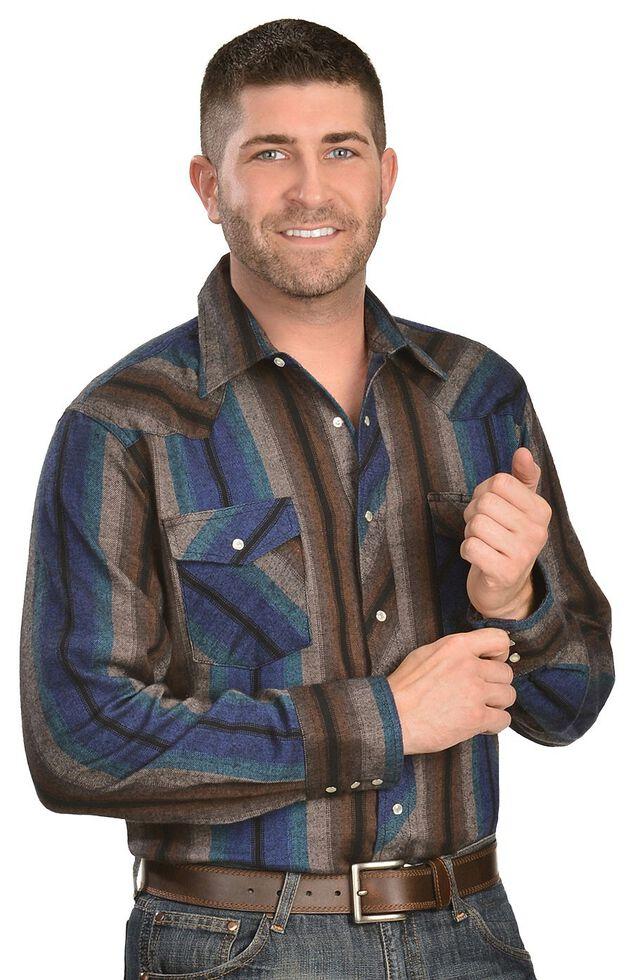 Wrangler Assorted Striped 4.5 oz. Flannel Long Sleeve Shirts, Stripe, hi-res
