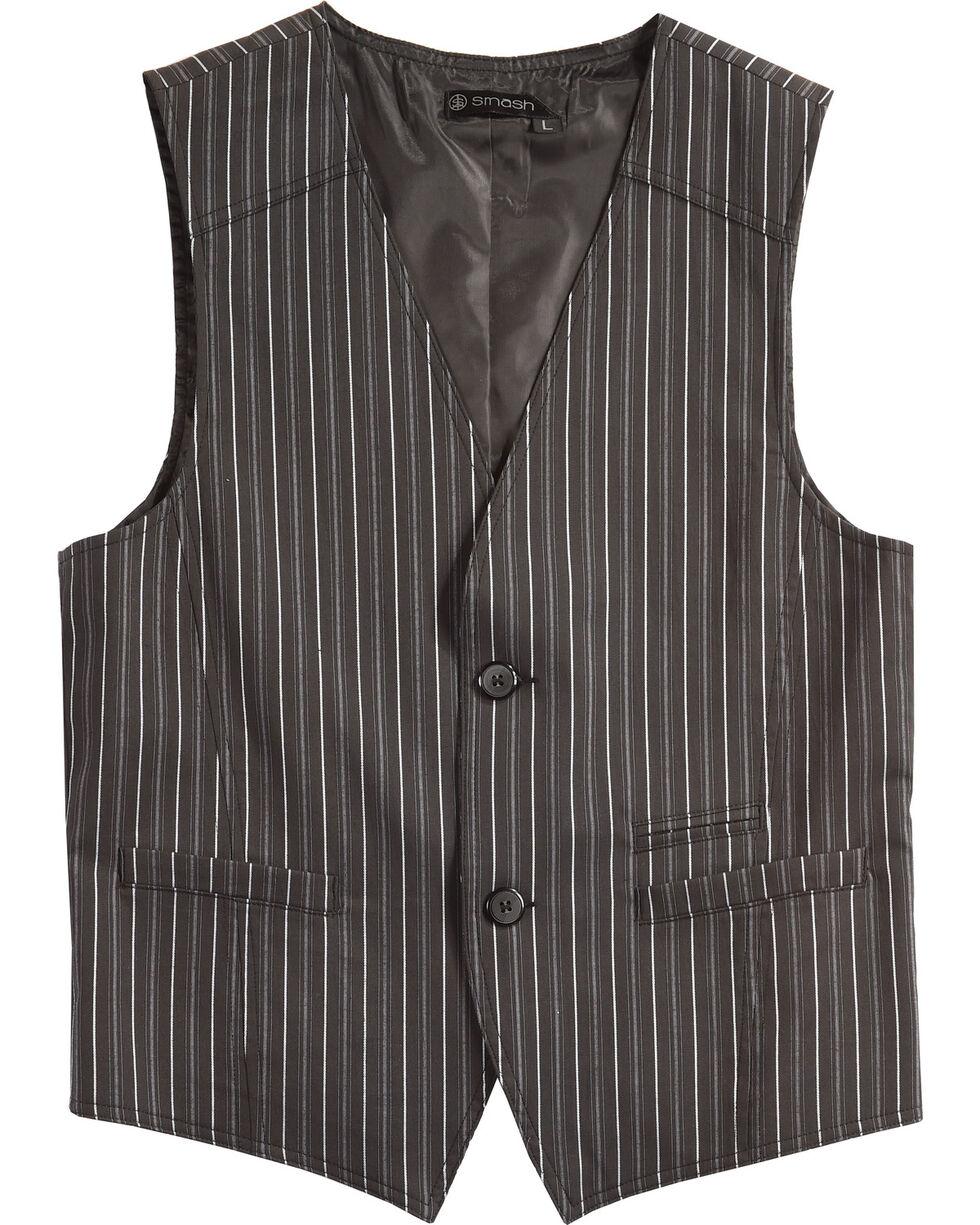 Smash Men's Pinstriped Vest, Black, hi-res