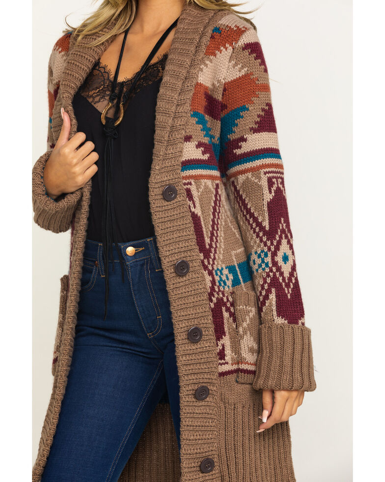 Stetson Women's Aztec Shawl Sweater , Multi, hi-res