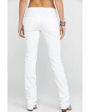 Wrangler Women's White Mid-Rise Straight Everyday Jean, Blue, hi-res
