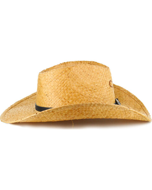 Charlie 1 Horse Concho Straw Hat, Lt Brown, hi-res
