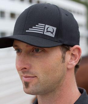 Cinch Men's Black FLEXFIT® Raised Logo Baseball Cap, Black, hi-res