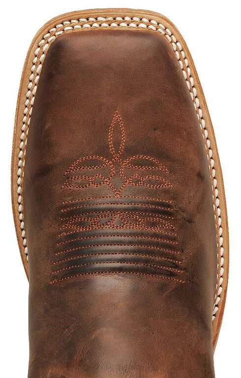 Justin Bent Rail Cognac Cowboy Boots - Square Toe, Cognac, hi-res