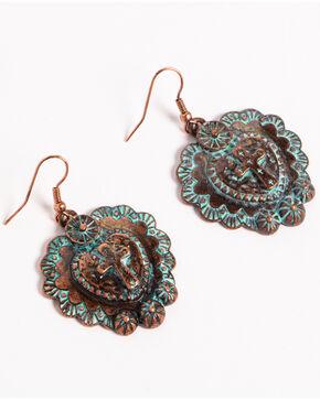 Shyanne Women's La Rosita Heart Earrings, Turquoise, hi-res