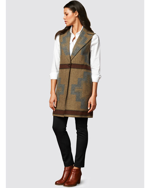 Pendleton Women's Tan Longline Vest , Tan, hi-res