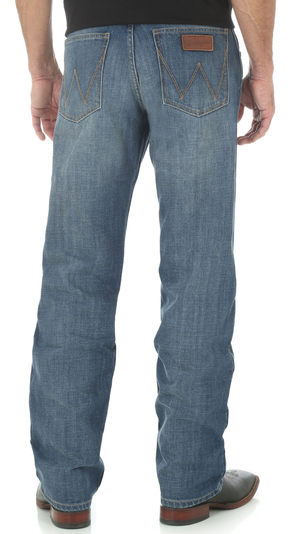 Wrangler Retro Men's Relaxed Fit Straight Leg Jeans, Indigo, hi-res