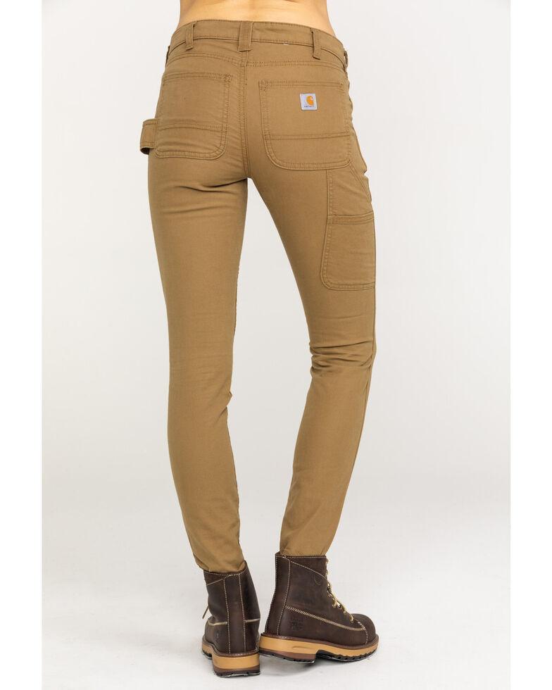 6624fd617 Zoomed Image Carhartt Women's Slim-Fit Crawford Pants , Tan, hi-res
