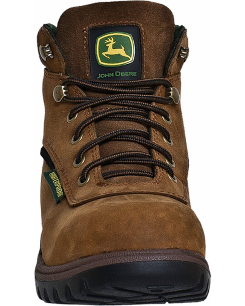 John Deere Women's Waterproof Hiking Work Boots, Tan, hi-res
