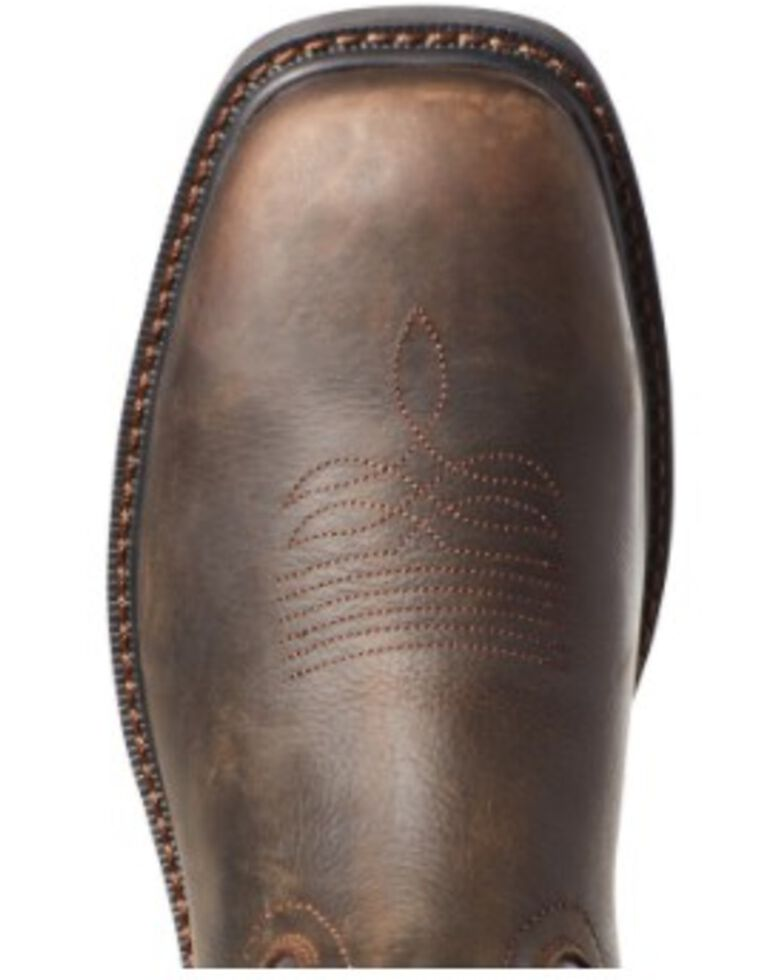 Ariat Men's Brown Groundwork Western Work Boots - Soft Toe, Brown, hi-res