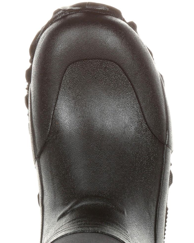 Rocky Men's Waterproof Rubber Work Boots - Round Toe, Black, hi-res