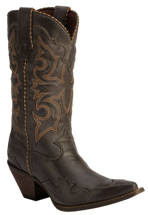 Durango Rock N' Scroll Cowgirl Boots, Gun Smoke, hi-res