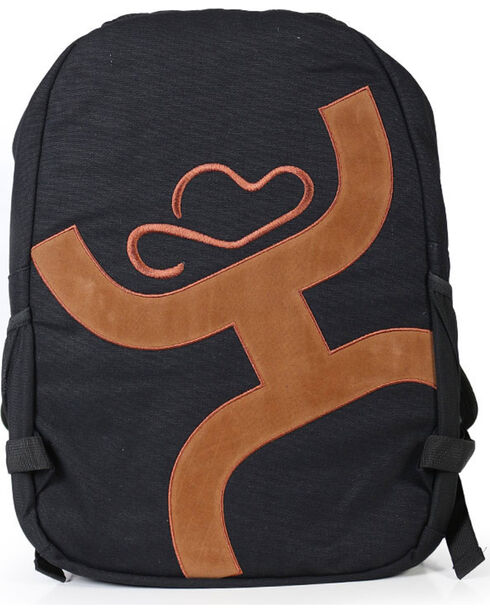 HOOey Logo Solid Backpack, Black, hi-res
