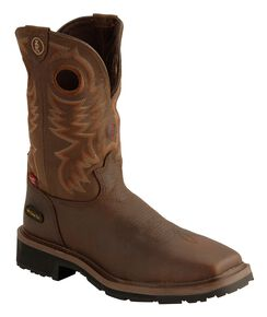 Tony Lama 3R Chocolate Waterproof Cheyenne Chaparral Boots - Composite Toe, Chocolate, hi-res