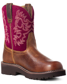 Ariat Women's Dark Brown Fatbaby Western Boots - Round Toe, Brown, hi-res