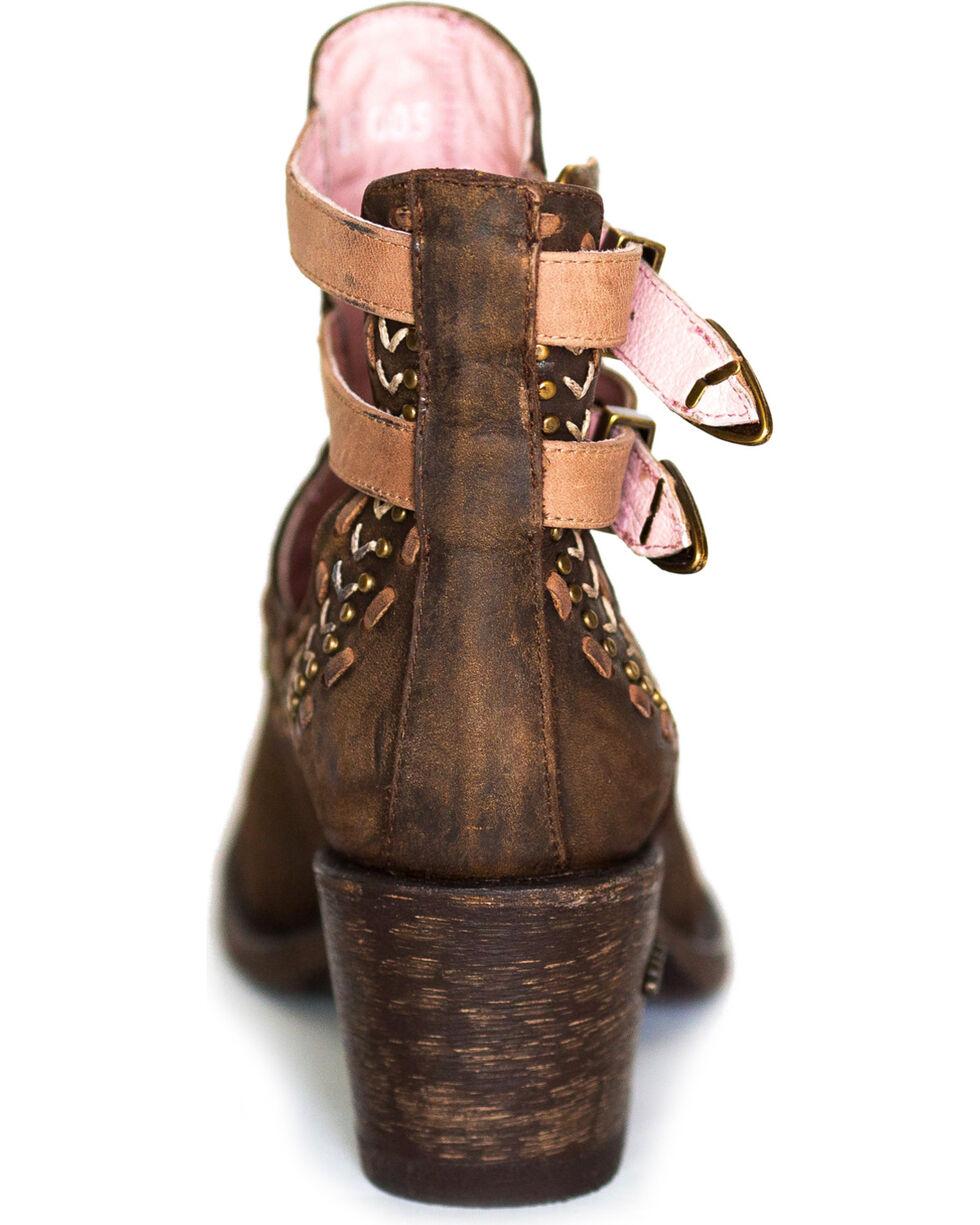 Miss Macie Women's Brown Geez Louise Short Boots - Round Toe, Brown, hi-res