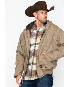 Berne Men's Washed Hooded Work Jacket, Sand, hi-res