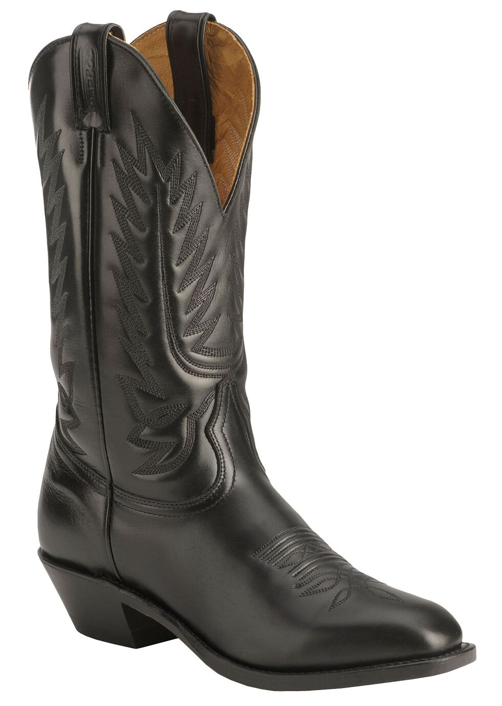 Boulet Dress Cowboy Boots - Square Toe, Black, hi-res
