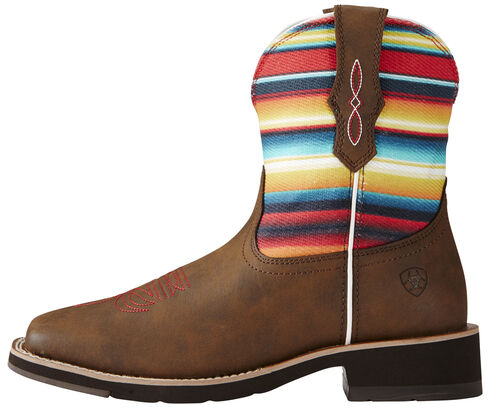 Ariat Fatbaby Brown Rosie Cowgirl Boots - Square Toe, Brown, hi-res