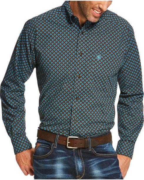 Ariat Men's Brown Pickford Print Long Sleeve Shirt , Brown, hi-res