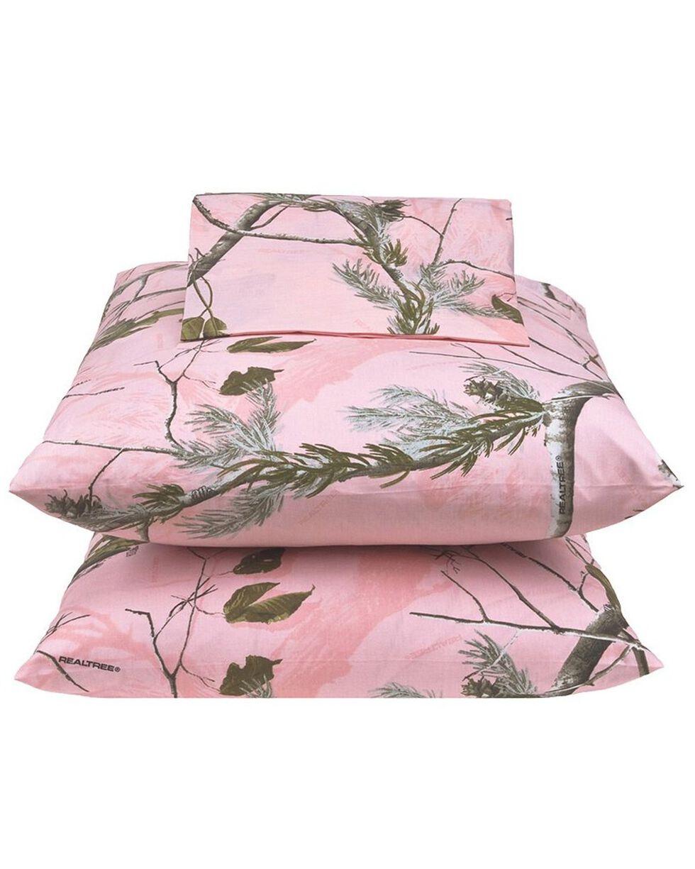 Realtree All Purpose Pink Full Sheet Set, Pink, hi-res
