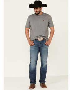 Wrangler Retro Men's Cleburn Medium Wash Stretch Slim Straight Jeans - Tall, Blue, hi-res